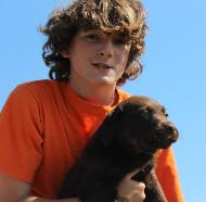Dawson and Chocolate puppy